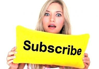 get 300 real Subscribers to your youtube Channel and give you a FREE guide on how to gain subscribers