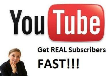 add 50 Real Subscribers To your Youtube Channel