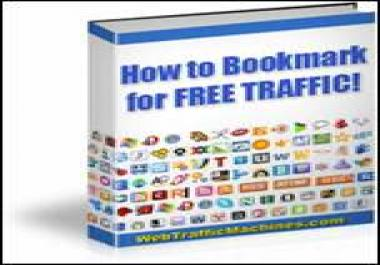 give you amazing Social Bookmarking ebook that gets you free traffic