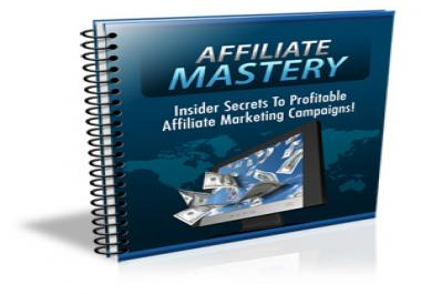 give you PLR to a high quality 30 pages Affiliate Mastery ebook which guarantees you explosive affiliate profit