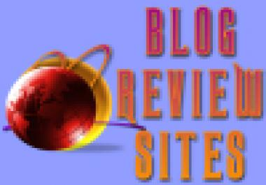 give you 6 blog review sites with MRR/PLR