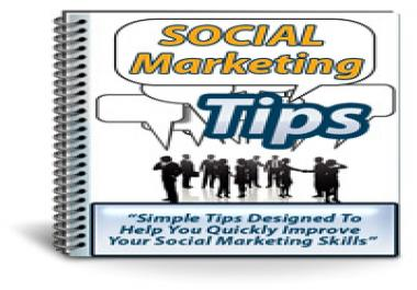 give you full PLR rights to a Social Marketing Tips package that contains everything you need  to start using and selling it right away for unlimited profit