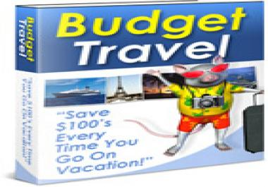 give awesome Budget Travel guide that will save you money all year