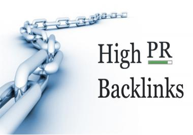 Create 4 premium high PR backlinks of page rank 4 through 6 for your website=Search Engine Domination