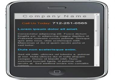 give you this mobile website template