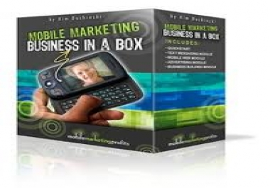 give you a real Mobile Business in a box that you can setup today and start earning tomorrow Z
