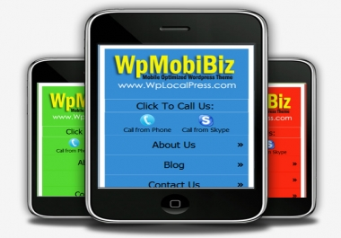 make it easier for you to cash in on the Fast Growing Mobile Website trend with your own Mobile Themes