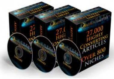 offer you 27000 plr articles on more than 800 topics