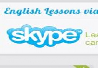 Talk to you in English through skype for forty five minutes to help you to improve your spoken English