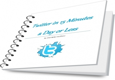 give you the ebook Twitter in 15 Minutes a Day