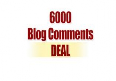 Create 6000 Blog Comments for juicy backlinks