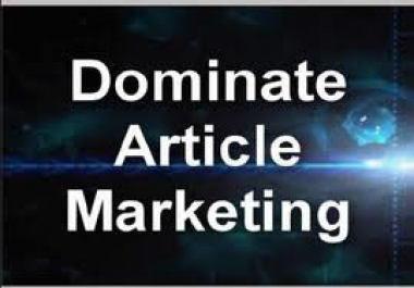 Submit your article to 3000+ Article Directories to urge 300+ instant Google Backlinks, complete report once Article Submission