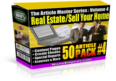 Gift You 50 Real Estate & Sell Your House Articles with Many Bonus