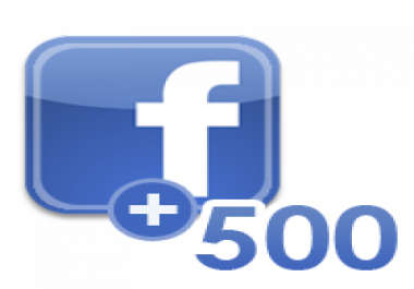 send you 500 facebook fans, 500 facebook likes to any fanpage in facebook