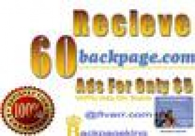 do 40 ads on Backpage