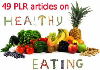 Make generating content easier with 49 great articles on Healthy eating