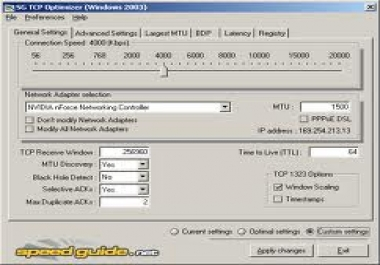 Give You TCP Optimizer