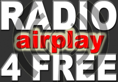 get your Hip Hop track on the radio. For that i will give you a list of real radio stations that are willing to play your HipHop track for free. Get radio airplay now, all only