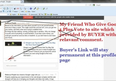 provide 30 Google Plus One Votes Only From Real Genuine Users with 20 Sensible Comments