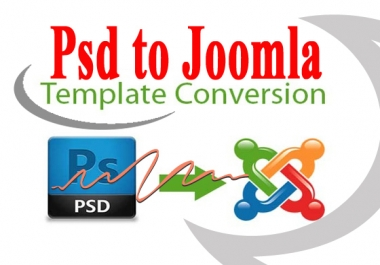 convert any psd file into JOOMLA Template