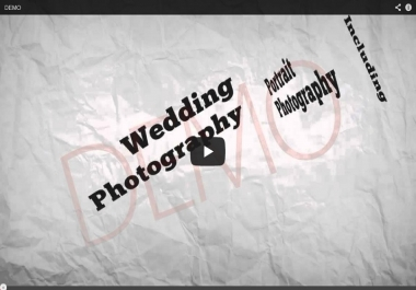 give you a high quality photography video to market your photography business