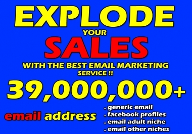 Give U 39 Millions+ Orignal E-mails With E-Mail Marketing Step by Step Guide