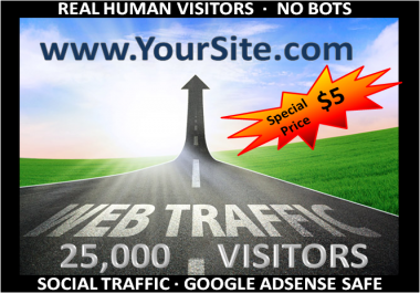provide, (25,000) ADSENSE safe Social Media Visitors to your Websites/Blogs