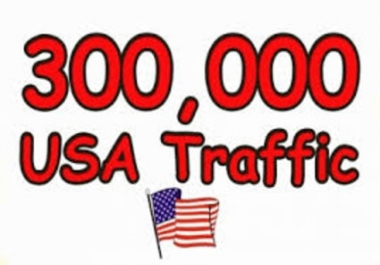 Give you 300,000 Guaranteed USA Visitors to your site with proofs