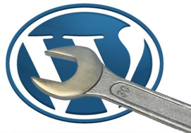 create wordpress site from scratch and fill it with your given content