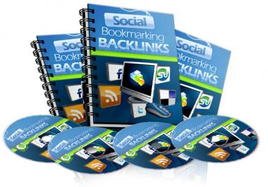 give you Social Bookmarking Back Links 12 Part Video Course
