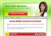Provide A Nicely designed Review Blog In Diet Niche With 3 reviews