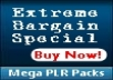 give you 10 mrr/plr package of your choice