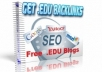 show you a Simple method to find EDU sites that will host your blogs for free and provide unlimited one way edu backlinks