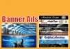 design web marketing banner ads in any standard size