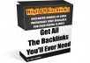 show you how to get all the high PR backlinks you will ever need, without paying for it + Bonus