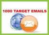 generate 1000 targeted bulk email mailing address lists