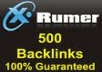 Build/offer 500 plus backlinks and pinging for your website once to dominate Google, sky rocket your website ranking