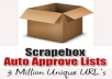 Give You 3 Million Unique Auto Approve Scrapebox URLs, Get Thousands of Blog Backlinks and 2 Free Gifts