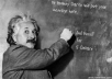 have Albert Einstein write your message on the chalkboard