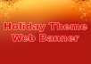 create a holiday theme web banner