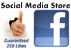 add minimum 250 guaranteed likes to your Facebook fanpage, no admin rights needed only