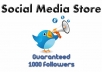 add minimum 1000 new followers to your account so you can dominate Twitter only