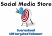 add a minimum of 100 new TARGETTED followers on keyword AND location to your account so you can dominate Twitter only