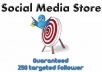 add a minimum of 250 new TARGETTED followers on keyword AND location to your account so you can dominate Twitter only