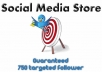 add a minimum of 750 new TARGETTED followers on keyword AND location to your account so you can dominate Twitter only