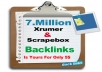 7 million backlinks list Xrumer and Scrapebox
