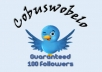 give you a new 100 followers for your twitter account so you can growing more fans