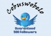 give you a new 500 followers for your twitter account so you can growing more fans
