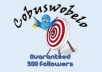 give you a new 500 TARGETED followers based on keyword and location for your twitter account so you can growing more fans