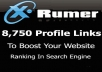 create 9,300 One Way VERIFIED Profile Links with Powerful Xrumer software to Boost Your website Ranking & Traffic In Search Engines
